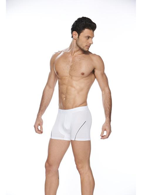 SVM Modal Likralı Boxer  Beyaz
